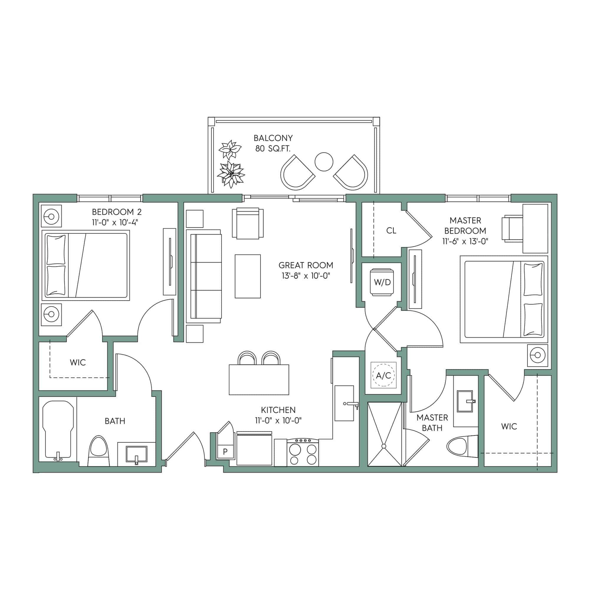 BONITA: 2-bedroom Downtown Tampa apartment for rent