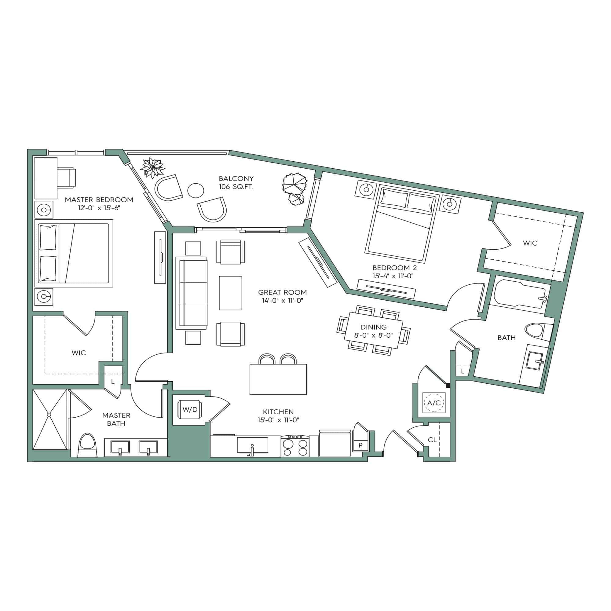 Clearwater Floor plan