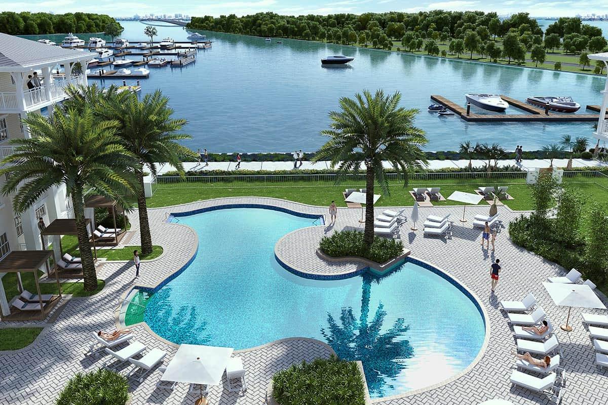 Luxury amenities: pool