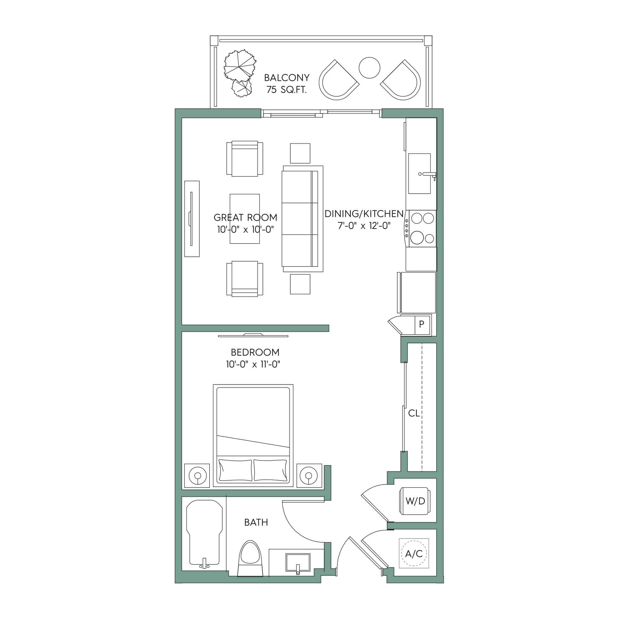 VERO: Studio Apartment for rent in Downtown Tampa
